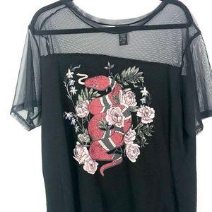 Torrid Womens Top Blouse Short Sleeve